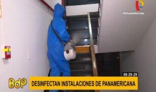 Empresa realizó desinfección en instalaciones de Panamericana