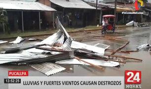 Pucallpa: tormenta de lluvia y granizo deja cuantiosos destrozos