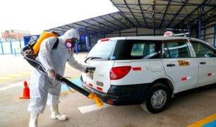 ATU comenzó a desinfectar taxis formales de Lima y Callao