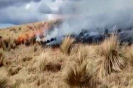 Ayacucho: mujer de 80 años falleció en incendio forestal en Cangallo