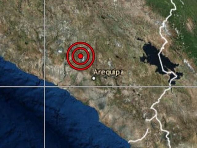 Sismo de magnitud 4.0 se registró esta noche en Arequipa