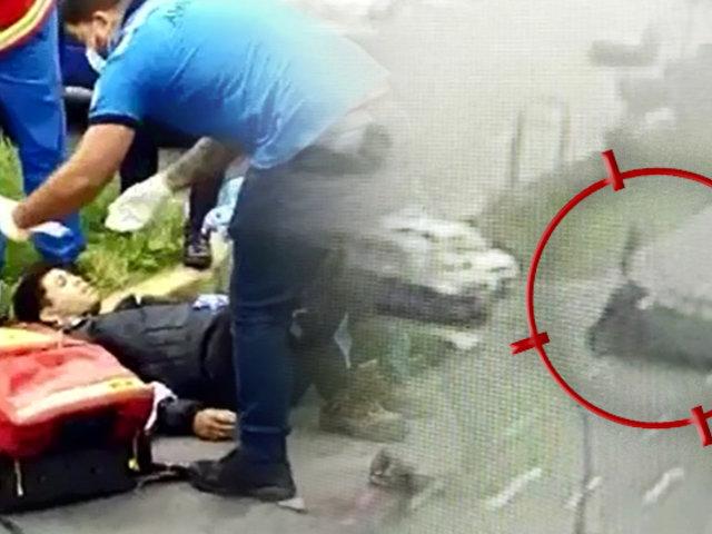 San Miguel: dos jóvenes resultan heridos tras chocar contra miniván