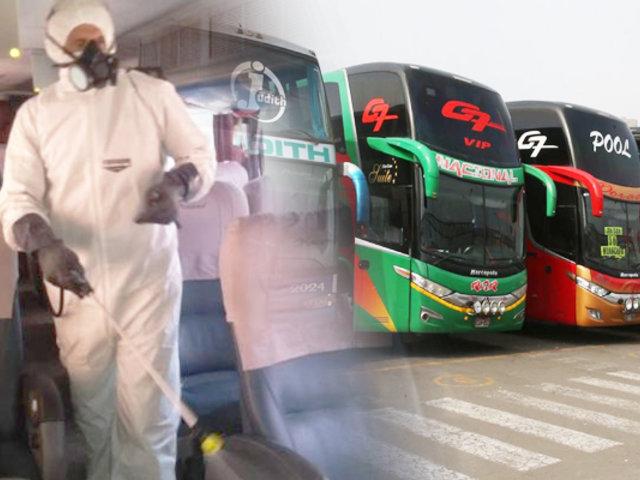Suspenden transporte interprovincial terrestre y aéreo en regiones que volvieron a cuarentena