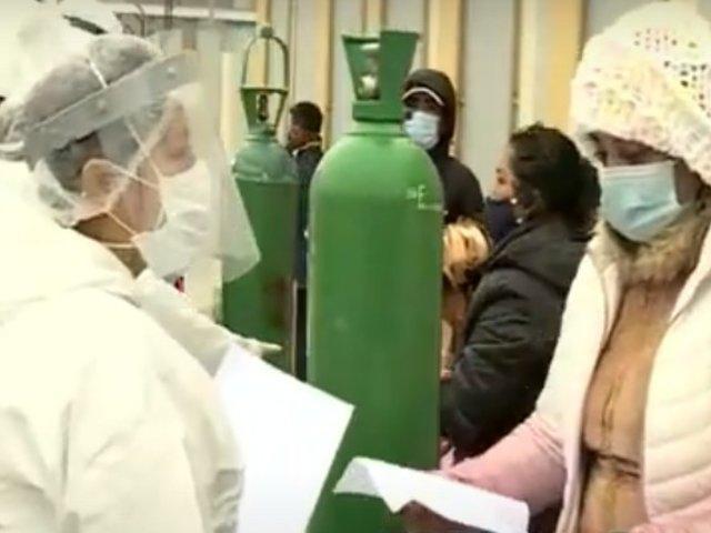 Ate: oxígeno gratis llegó al estadio Ollantaytambo para vecinos de Lima Este