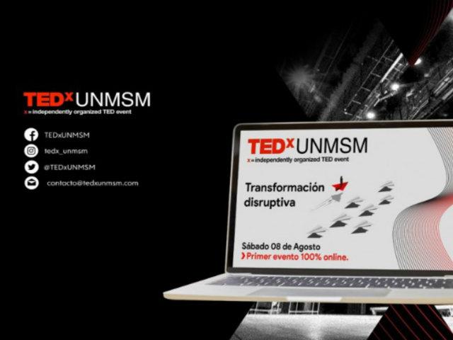 """TEDx UNMSM realiza su primer evento 100% online: """"Transformación Disruptiva"""""""