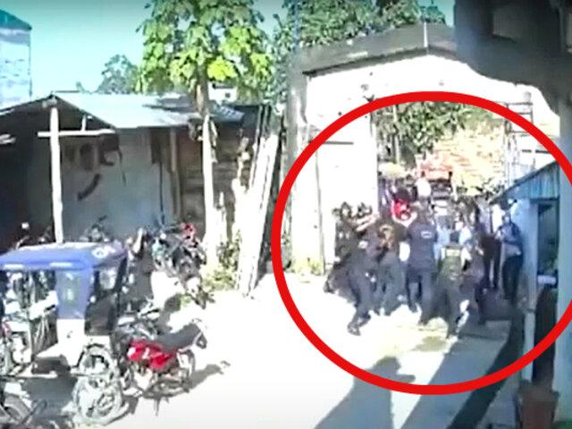 Iquitos: sujetos intentan tomar a la fuerza municipalidad San Juan Bautista