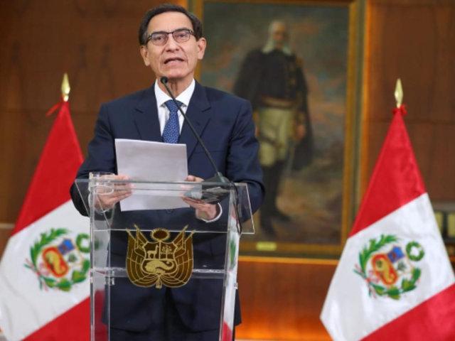 """Martín Vizcarra: """"Acepto la decisión del Congreso, conformaré un nuevo Gabinete"""""""