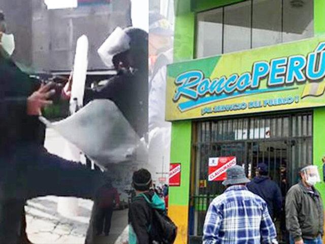La Victoria: fiscalizadores y los dueños de una empresa de transportes se enfrentaron a golpes