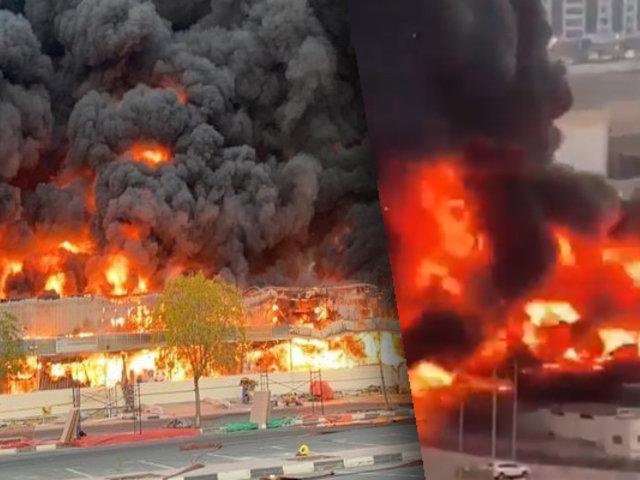 Emiratos Árabes: se registra dantesco incendio en un centro comercial