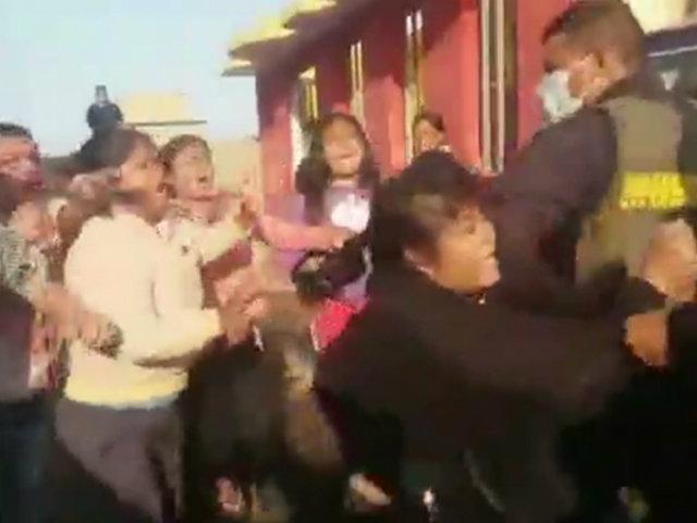 Chiclayo: familia en estado de ebriedad agrede a policías que los intervinieron