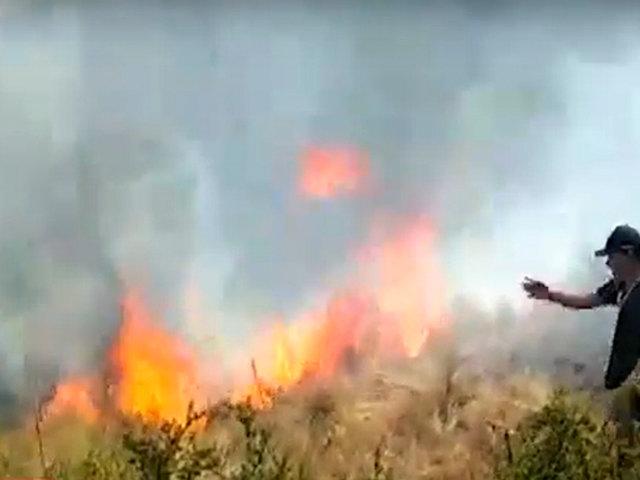 Incendio forestal en Huanta: fuego consume más de 2 mil hectáreas