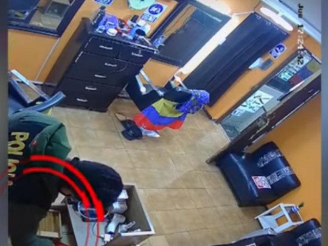 Los Olivos: PNP inicia investigación contra agente que agarró dinero durante diligencia