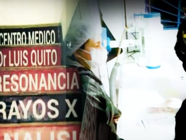 Policía Fiscal interviene centro médico que operaba sin licencia