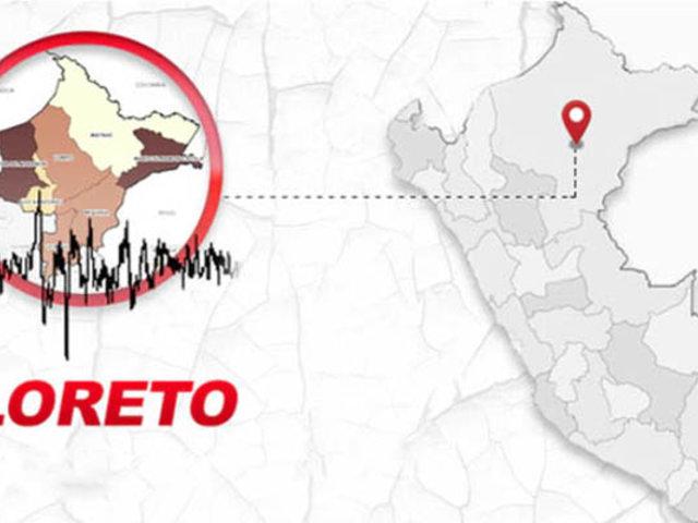 Región Loreto fue sacudida esta madrugada por un sismo de 4.4 grados
