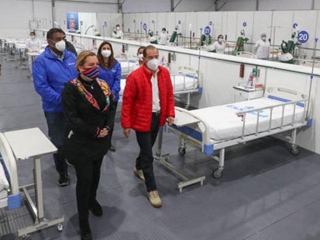 Covid-19: premier Martos supervisa nuevos ambientes en la Villa Panamericana