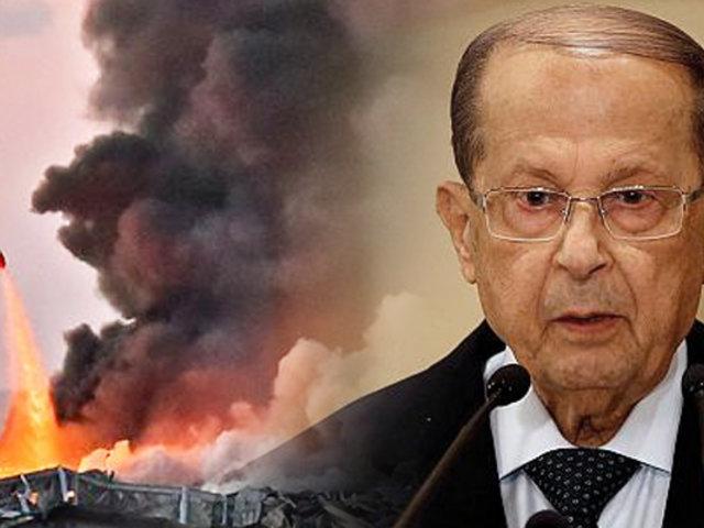 """El presidente del Líbano cree que """"un misil o una bomba"""" causó las explosiones en Beirut"""