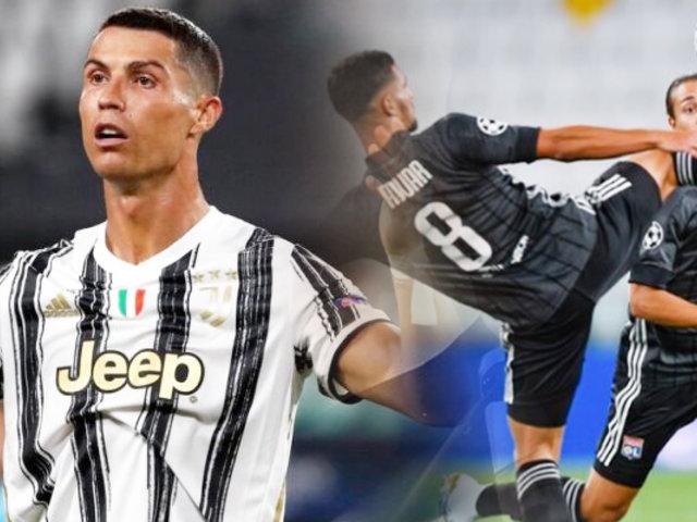 Juventus venció 2-1 al Lyon pero quedó fuera de la Champions League