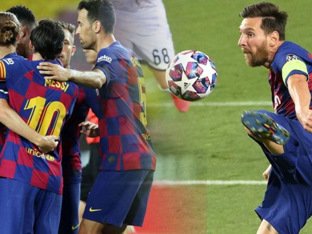 Barcelona vence 3-1 al Napoli y clasifica a cuartos de final de la Champions