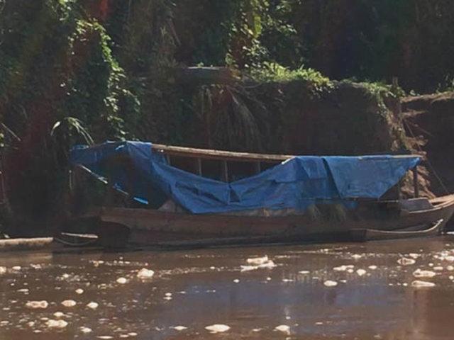 Sujetos abandonan bote cargado con cocaína en el río Ucayali