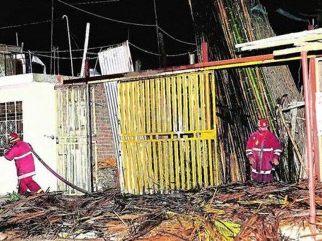 Piura: delincuentes incendian maderera porque dueños no habrían pagado cupos