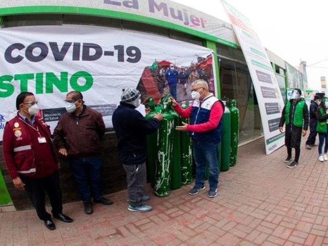 El Agustino: municipio entregó oxígeno gratis a vecinos
