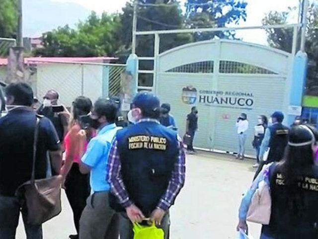 Huánuco: allanan Gobierno regional por demora en ejecución de presupuesto contra Covid-19