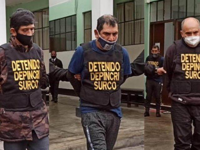Surco: Policía desbaratan peligrosa banda que robaba en talleres mecánicos