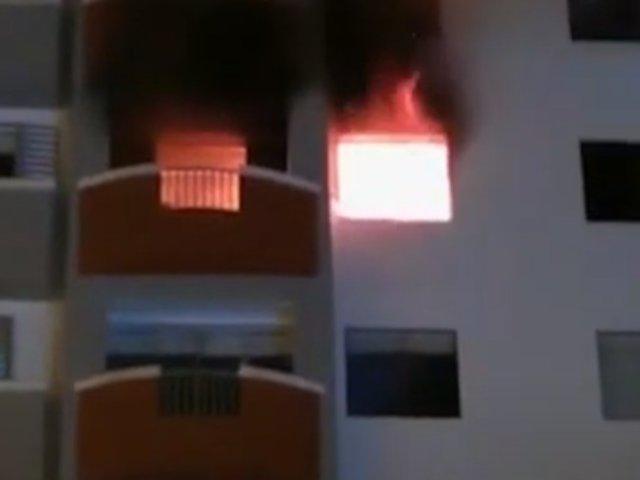 Miraflores: 200 vecinos fueron evacuados por incendio en edificio