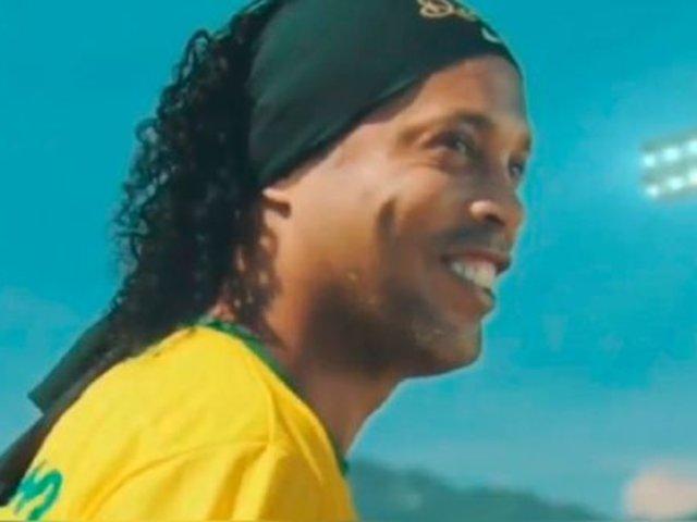Ronaldinho resurge: es la nueva imagen de las obras en el estadio del Atlético Mineiro