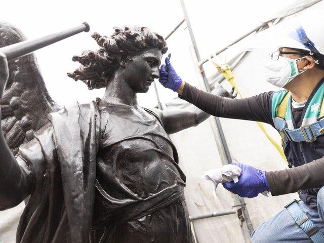 MML reanuda trabajos de recuperación de esculturas y espacios públicos
