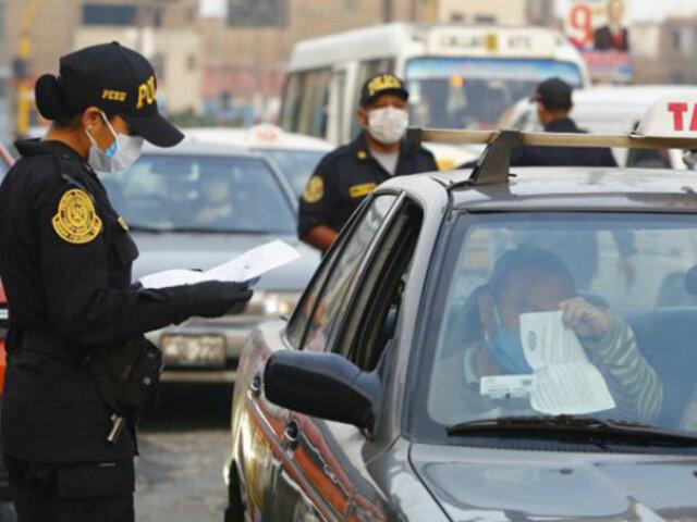Covid-19: ¿Cuánto es la multa para conductores que circulen sin permiso domingos y en toque de queda?