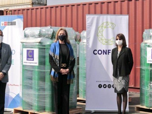 CONFIEP donó al Gobierno 1320 balones de oxígeno