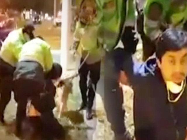 San Borja.: policías detienen violentamente a un vecino tras confuso incidente