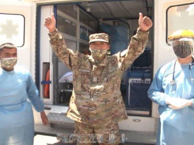Huancayo: militar derrotó a la COVID-19 tras permanecer 46 días en UCI