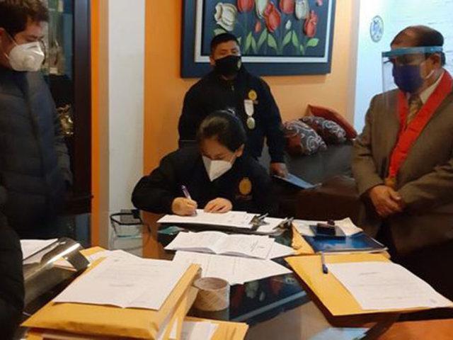 Huaura: allanan oficina de juez por presuntos vínculos con extorsionadores