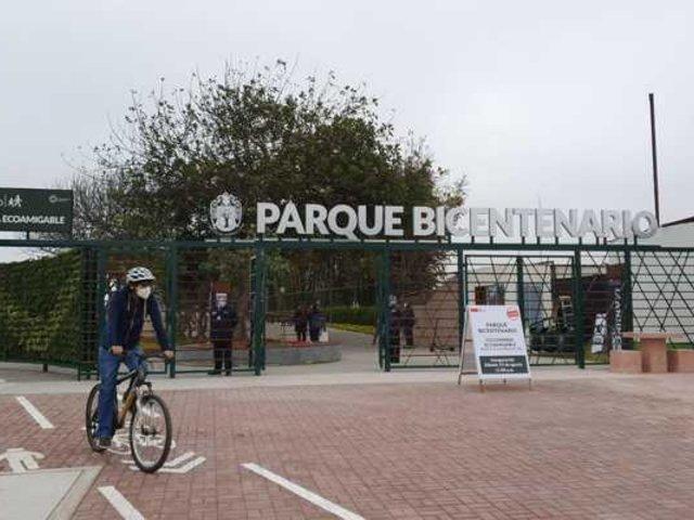 San Isidro inauguró ciclovía del Parque Bicentenario y Puente de la Amistad