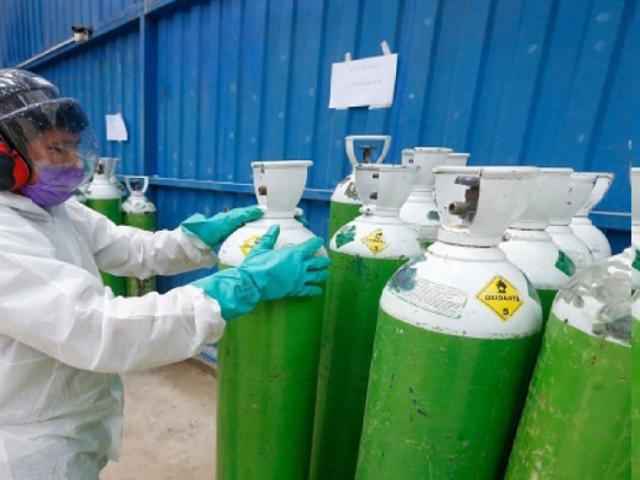 Lambayeque: comprarán más de 6,000 balones de oxígeno para atender a infectados con Covid-19