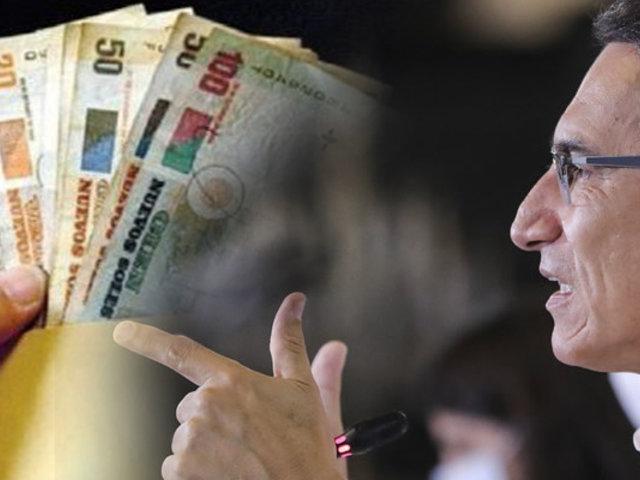Bono Universal: Presidente Vizcarra confirmó que segundo pago inicia el 10 de octubre