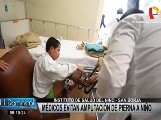 San Borja: médicos del INSN evitaron amputarle pierna a niño de 12 años