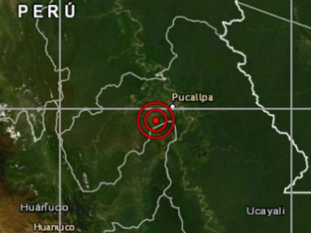 Ucayali: sismo de magnitud 4.1 se registró esta noche en Pucallpa