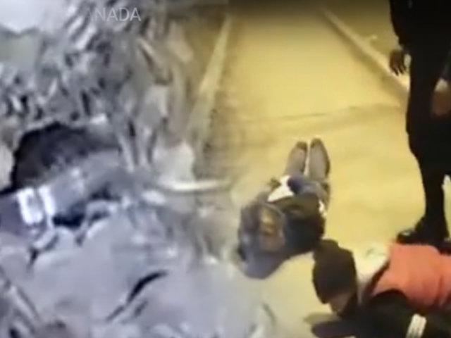 VMT: capturan a delincuentes con granada tipo piña