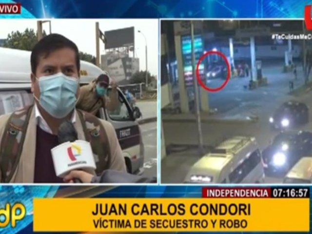 Independencia: abogado fue secuestrado y asaltado por falso colectivo
