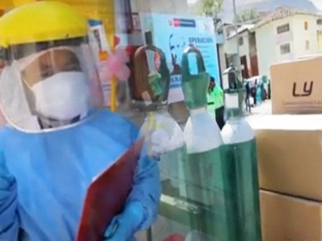 """Operación """"Tayta"""" llega con oxígeno y medicinas a Huancavelica"""