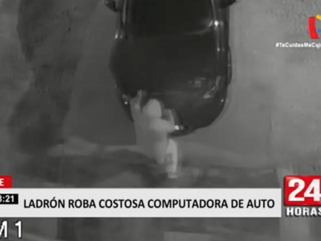 Ate: ladrón es descubierto robando costosa computadora de auto