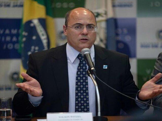 Río de Janeiro: separan a gobernador por lucrar con pandemia