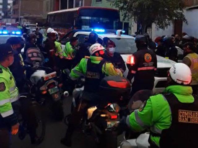 San Borja: serenos resultan heridos tras intensa persecución a supuestos ladrones
