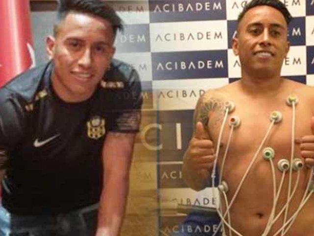 Christian Cueva pasó pruebas médicas en Turquía