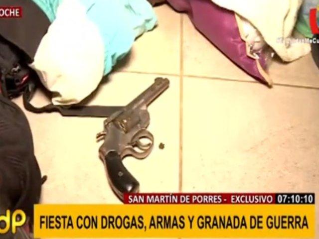 SMP: jóvenes celebraban cumpleaños con droga, armas y hasta granada de guerra