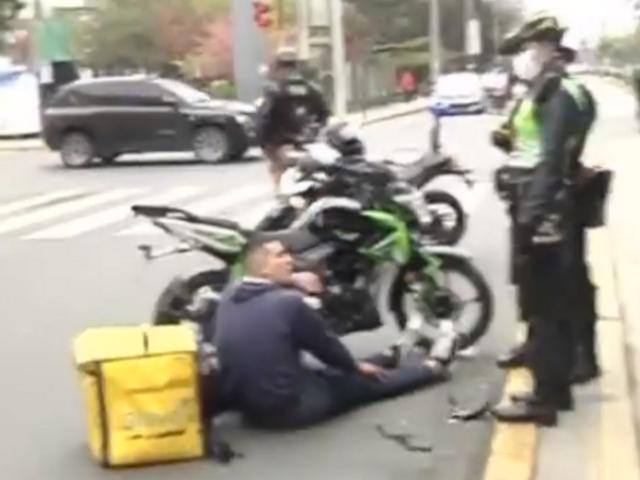Lince: dos heridos deja colisión entre motociclista y ciclista