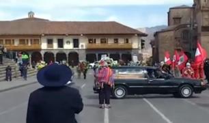 Cusco da el último adiós a su alcalde Ricardo Valderrama